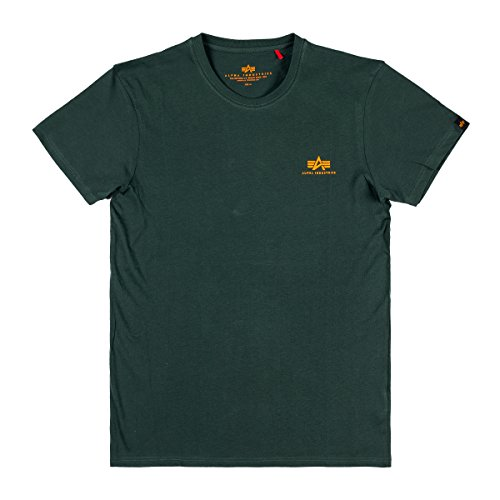 Alpha Industries Herren T-Shirt Basic Small Logo, Größe:L, Farbe:Dark Petrol