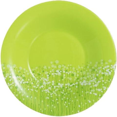 Luminarc 9202493 - Piatti fondi Flowerfield, ø 21 cm, confezione da 6, colore: Verde