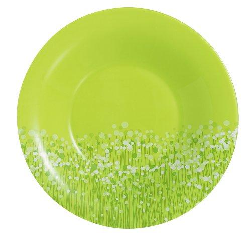 Luminarc 9202493 Lot de 6 Assiettes Creuses 21 cm Flowerfield Anis