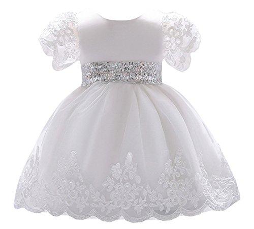 Eozy Baby Blumenmädchen Kleid Hochzeit Mädchen Spitze Taufkleid Festkleid Größe 90