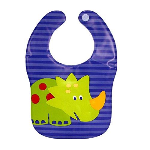 Tefamore Baberos Bebé De Impermeable Chal De Impresión Animales De Dibujos Animados (Múltiples Opciones) (Azul2)