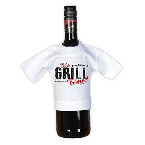 It´s BBQ Time! - Lustiges Männer Grillen T-Shirt mit Mini Shirt It´s Grill Time - Gourmet Geschenk Set für Ihn Schwarz