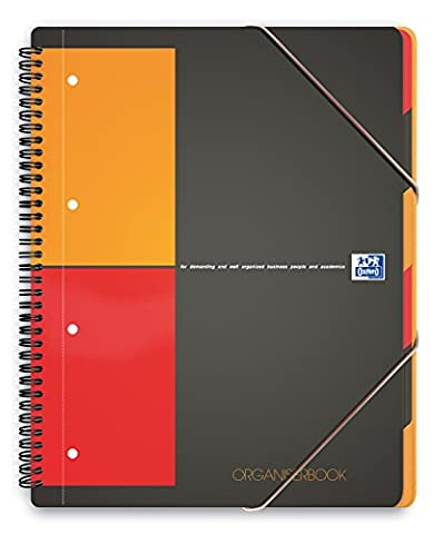 Oxford International Organiserbook Cahier A4+ Polypro 160 Pages Petits Carreaux 5 x 5