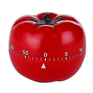LeKing Temporizador de Cocina, recordatorio de Temporizador de Tomate, Temporizador de Cuenta atrás mecánico de Pomodoro,Temporizador Cocina,Reloj de Cocina