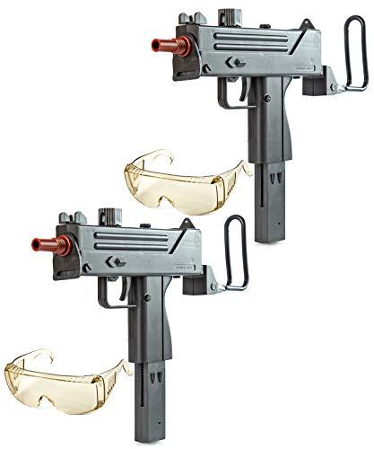 Nerd Clear Softair Gewehr Uzi Doppelback |inkl. Schutzbrille und Startermunition