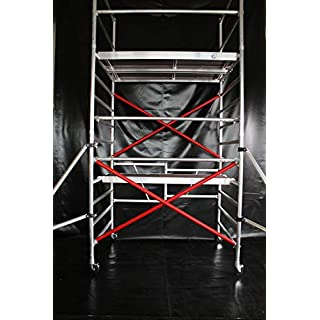 KiezGerüst Ah. 5,10 Meter Das Gerüst für den Profi Zimmergerüst Rollgerüst Rollrüstung 1,35 m Breite erweiterbar
