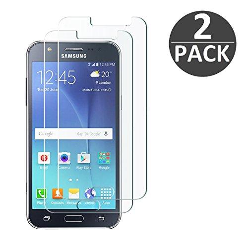 [2 Stück] Samsung Galaxy J5 (2015) Schutzfolie Panzerglas, wortek Panzerfolie [Anti-Kratz, Ultra-Clear] 9H Displayschutz Schutzglas