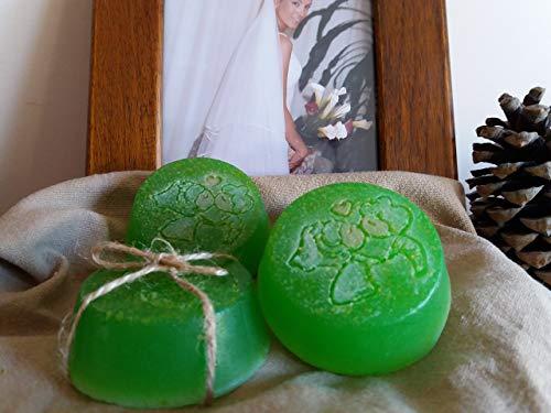 5 uds. Jabón artesano para boda 100% natural de Aloe Vera, miel, aceite de oliva y hierbabuena.
