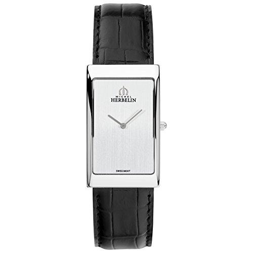 Michel reloj Grand Palais Herbelin para hombre marrón claro/plateado 1162/02
