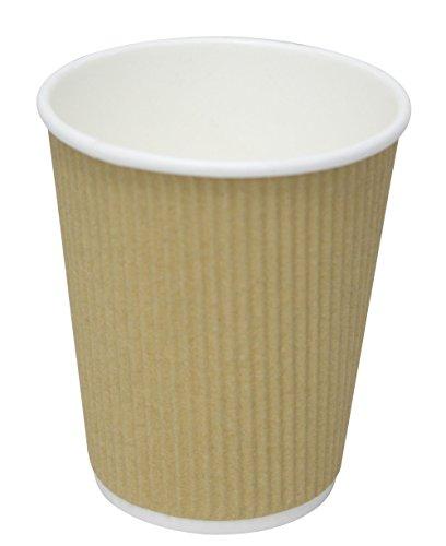 weg Ripple Heiß & Kalt Kaffee Pappbecher 8oz-Perfekt für heiße und kalte Getränke, keine Ärmel nötig, Papier, braun, 25 Count ()