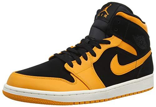new style d5aa3 817ee NIKE Air Jordan 1 Mid, Scarpe da Basket Uomo, Nero (Black Orange