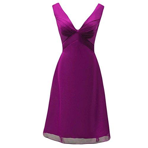 Bridal_Mall -  Vestito  - Senza maniche  - Donna Porpora