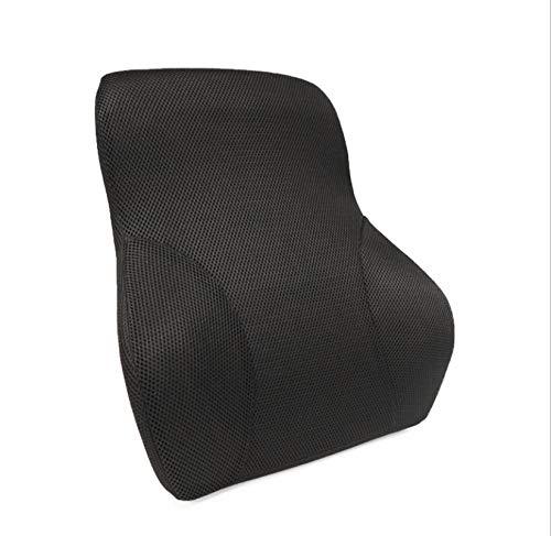 QNYH Cuscino Lombare Imbracatura Rimbalzante Lenta Mesh Traspirante Car Waistrest Memory Cotton Back Back Support Doppio Uso 40Cmx12Cmx47Cm