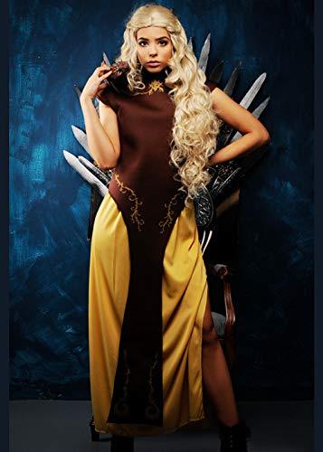 Magic Box Int. Womens Mutter der Drachen Stil braun Kostüm Large (UK 14-16) (Game Of Thrones Drachen Lady Kostüm)