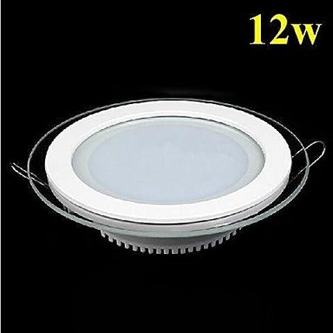BKLaterne Vetro maschera 12 Watt circolare LED pannello luce cucina