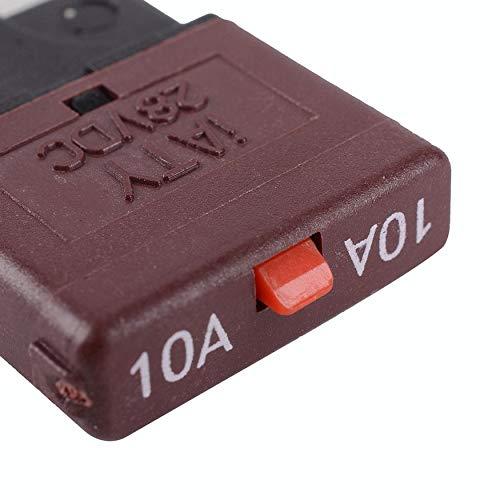 Yaoaomon Mittlere manuelle Rückstellung Leistungsschalter für Kfz-Schutzschalter Sicherung Dunkelbraun Atc-type Fuse