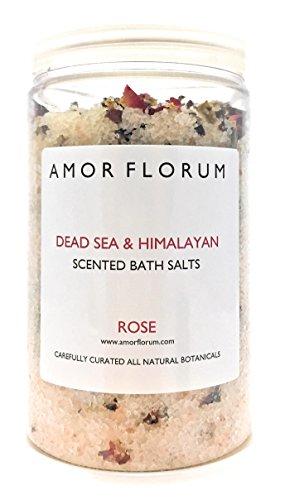 SALE ROSA DELL HIMALAYA E DEL MAR MORTO per il BAGNO ROSA 400 g di AMOR FLORUM Infuso con oli terapeutici per idratare la pelle e portare un senso di