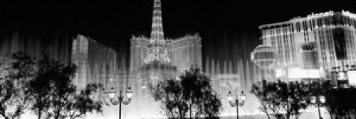 Preisvergleich Produktbild Panoramic Images – Hotels in a city lit up at night The Strip Las Vegas Nevada USA Photo Print (45,72 x 15,24 cm)