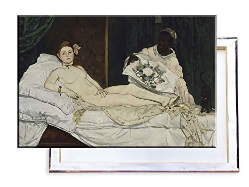 Unified Distribution Édouard Manet - Olympia - Klassisches Gemälde - Replik auf Leinwand 100x70 cm