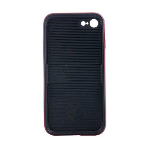 IPhone 7 Fall Shockproof TPU + PC schützender Fall mit Halter für iPhone 7 by diebelleu ( Color : White ) Red