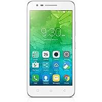 """Lenovo C2 Smartphone LTE, Dual SIM, 5"""" HD, MT6735p quad-core a 64 bit da 1.0 GHz, 8 MP, RAM da 1 GB, 8 GB espandibile fino a 32 GB, Bianco [Italia]"""