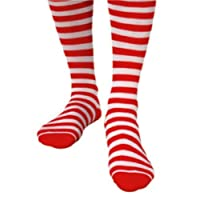 Socks for Stockings Fancy Dress Accessory Red & White Striped