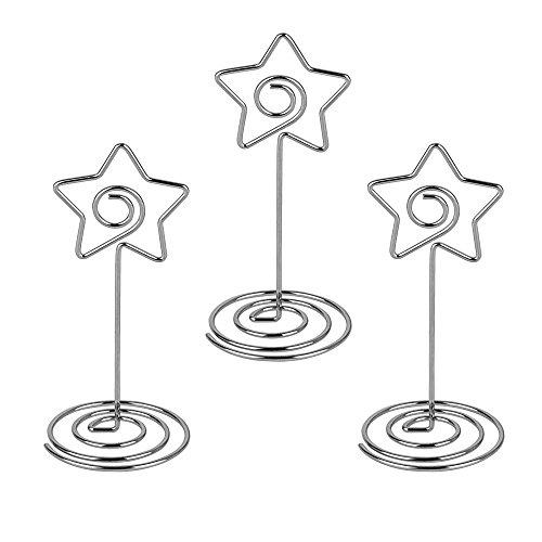 20 pz pinze pinzette con base in metallo forma di stella come supporto memo clip portafoto fai da te per segnaposto bomboniera matrimonio