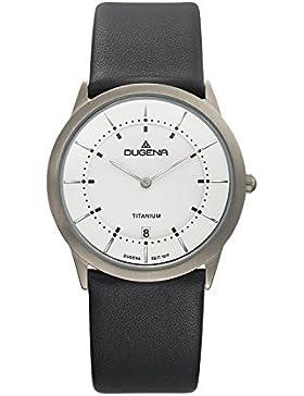 Dugena Herren-Armbanduhr Modena - Titanuhren Analog Quarz Leder 4460336