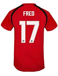Manchester United FC - Camiseta Oficial de Entrenamiento - Hombre -  Poliéster - Rojo - Fred 17… d5fd271c44669