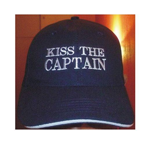 DelmarNautical Captains Cap Kapitäns Mütze Anker Anchor Kiss the capatain yacht...