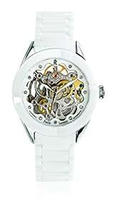 Pierre Lannier - 303C690 - Montre Femme - Automatique Analogique - Cadran Nacre - Bracelet Céramique Blanc