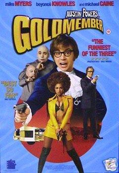 Austin Powers in Goldständer Filmposter, selten, krass, 43 x 61cm