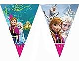 KULTFAKTOR GmbH Disney Frozen Wimpel-Girlande Kinderparty-Deko bunt 200cm Einheitsgröße