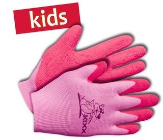 KIXX Kinderhandschuh Nylon/Latex Rosa, Gr.4