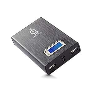 Intocircuit-Batteria esterna (11,200 mAh, 5 V, 1/2 A A 2 porte USB) - Gray Version 11200mAh