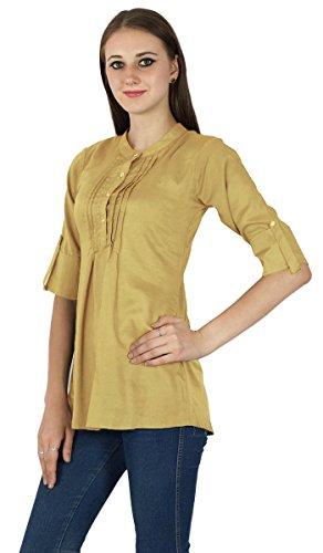 Top Solide Sundress Robe Tunique Boho Coton Vêtements Pour Wear Beige