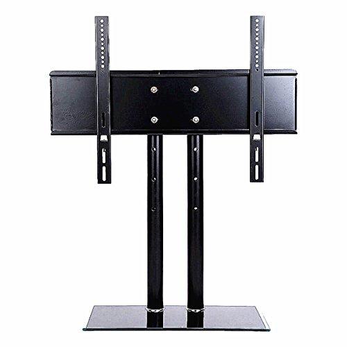 ybaymy21Universaler Podest Tisch-TV-Ständer, Riser-drehbar höhenverstellbar mobil, LED LCD Plasma Flachbildschirme mit Halterung, mit Spitze und sehr stabil, Schwarz 32-70 inch Schwarz (Tv Hd 36 Zoll)