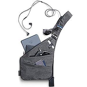 NIID-FINO Brusttasche Herren Und Damen, Sling Crossbody Bag Umhängetaschen Schultertaschen für Herren Multipurpose…