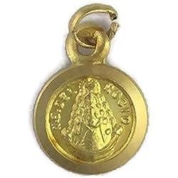 Medalla de Oro de 18 Klts de Bebé J. Luis J.L-MED-090 (Virgen del Rocío)