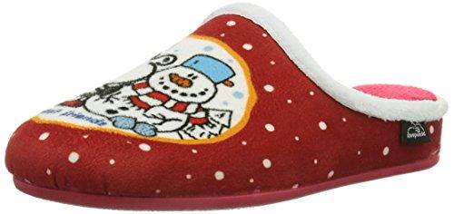 Sheepworld 320396 Unisex-Erwachsene Pantoffeln Rot (Rot)
