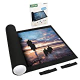LAVIEVERT Jigsaw Puzzle Roll Mat Puzzle Storage Puzzle Saver, Environmental Friendly Material, Store Jigsaw Puzzles Up to 1, 500 Pieces