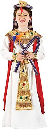 Costume di Carnevale da Faraone Baby Vestito per Bambino Ragazzo 1-6 Anni Travestimento Veneziano Halloween Cosplay Festa Party 1122 Taglia 5