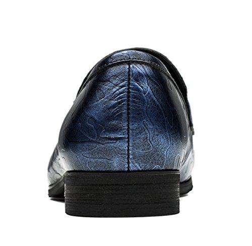 OPP Herren Leder Schuhe Casual Sneaker Slipper & Mokassins Blau-2