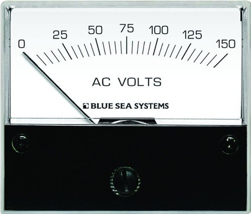 Blue Sea Systems Virginia 9353AC Analog Voltmeter (0-150VOLTS AC) by ACR Electronics -