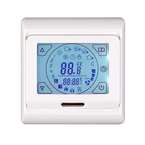 Gebuter 1PC Fußbodenheizungsthermostat Intelligenter elektrischer Temperaturregler mit Touchscreen 1PC Floor Heating Thermostat with Touching Screen Smart Electric Temperature Controller -