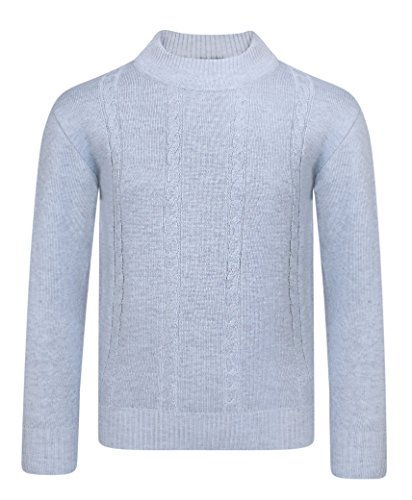 LotMart Boys Cable Knitted Jumper Kids Long Sleeve Pullover Sweater Top