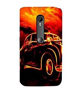 Ebby Premium 3d Desinger Printed Back Case Cover For Moto G3 / Moto G Turbo (Premium Desinger Case)