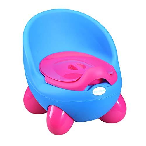Finebuying 2 in 1 Baby Kleinkind Töpfchen Stuhl Trainer Stuhl Kinder Wc Training Langlebig Vier Beine Schubladen-Stil Design Spritzschutz Töpfchen Trainingsstuhl (Blau) -