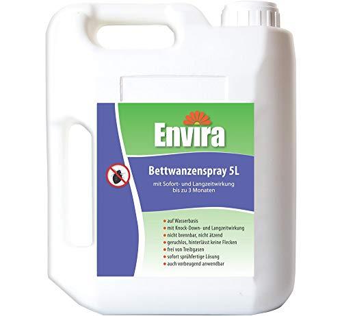 Envira Bettwanzen-Spray - Anti-Bettwanzen-Mittel Mit Langzeitwirkung - Geruchlos & Auf Wasserbasis - 5 Liter -