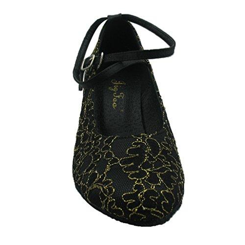Jig Foo Chaussures de Pompes Dance pour Femme noir - Noir